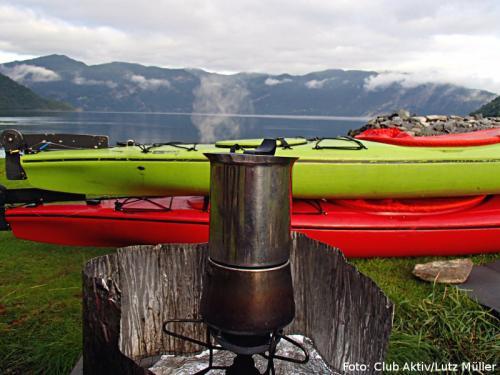 Kaffee kochen mit Fjordblick