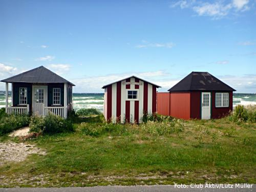 Die bekannten Badehäuser auf Aerö