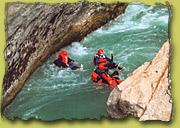 Wildwasser Training auf der Durance