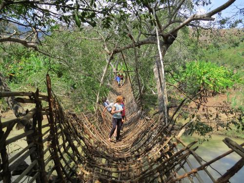 Zuwerufu Hängebrücke - Malawi