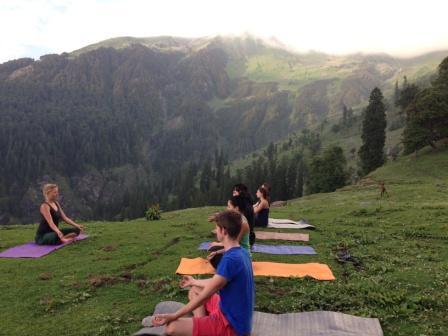 Yoga im Himalaya