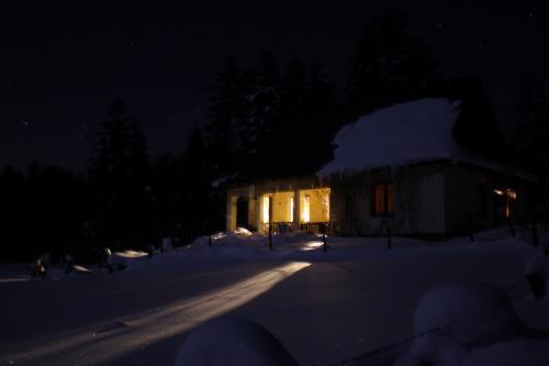 Nachts kehren wir in unsere einsame Holzhütte zurück... (Foto: Wojciech Juda)
